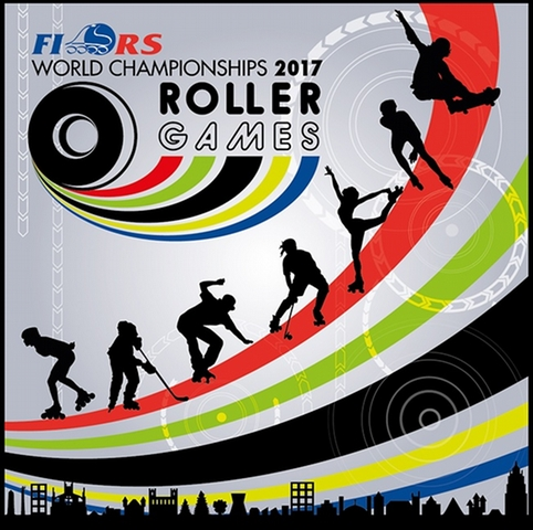 "The logo of the World Championships FIRS ""Roller Games"" 世界轮滑运动会logo"